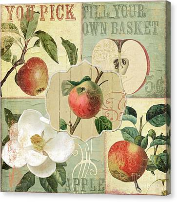 Apple Blossoms Patchwork IIi Canvas Print