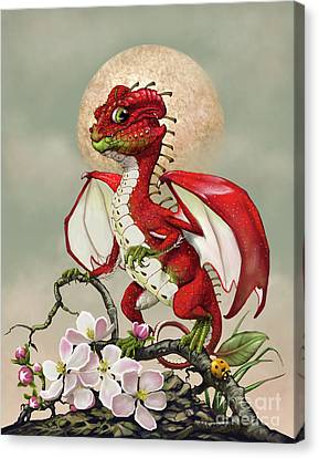 Canvas Print featuring the digital art Apple Dragon by Stanley Morrison