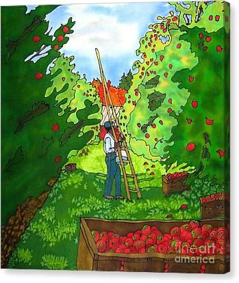 Apple Harvest Canvas Print by Linda Marcille