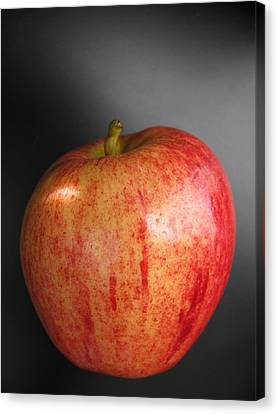 Canvas Print featuring the photograph Apple by Lindie Racz