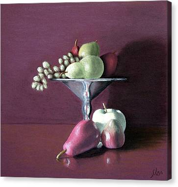 Apple  Pears And Grapes Canvas Print