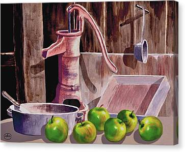 Apple Pie Canvas Print by Ron Chambers