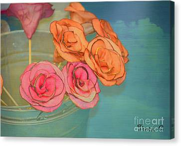 Canvas Print featuring the photograph Apple Roses by Traci Cottingham