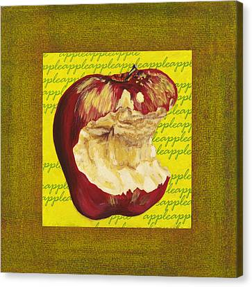 Apple Series Number Four Canvas Print by Sonja Olson