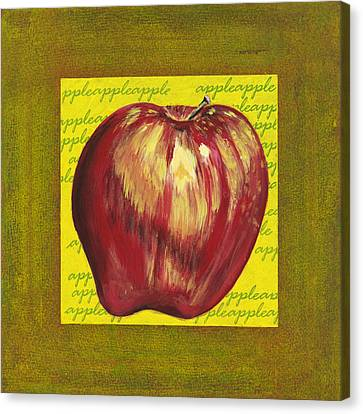 Apple Series Number One Canvas Print by Sonja Olson