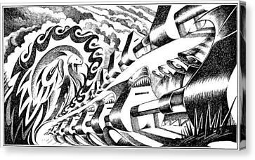 Musica Canvas Print - Apple Sharks Army by Ciro Pignalosa