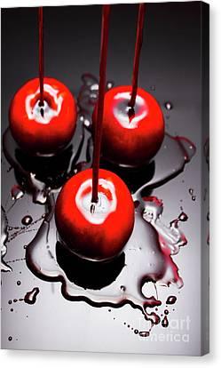 Apple Taffy Still Life. Halloween Treats Canvas Print