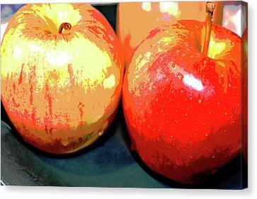Apples Abstract 1 Canvas Print by Linda Brody