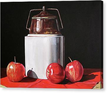 Apples And Crock Canvas Print