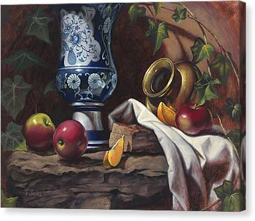 Apples And Oranges Canvas Print by Timothy Jones