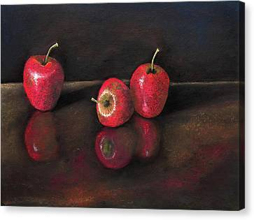 Apples And Reflections Canvas Print by Nirdesha Munasinghe