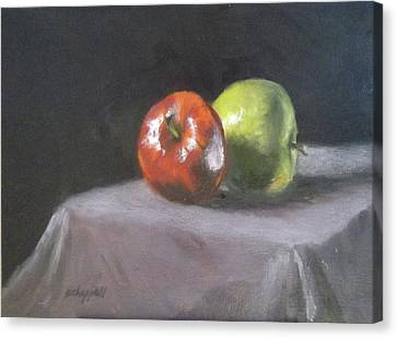 Apples Canvas Print by Becky Chappell