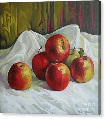Apples Canvas Print by Elena Oleniuc
