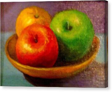 Apples Canvas Print by Eun Yun
