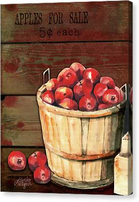 Apples For Sale Canvas Print by Arline Wagner