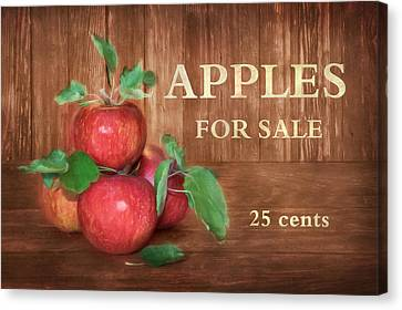 Apples For Sale Canvas Print by Lori Deiter