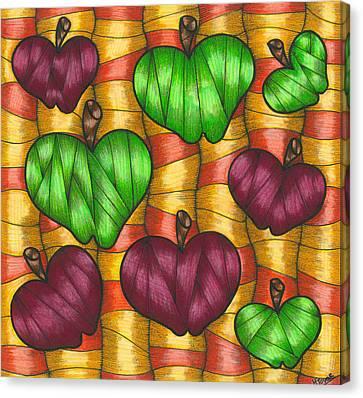 Apples Canvas Print by Hilda Tovar