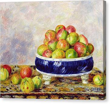 Fill Canvas Print - Apples In A Dish by  Pierre Auguste Renoir