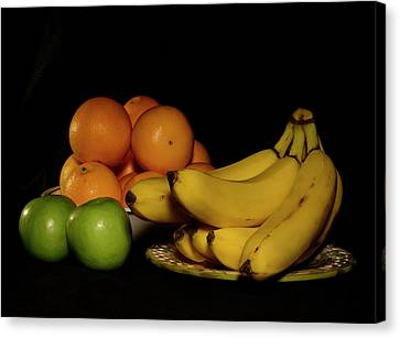 Apples, Oranges And Bananas 4 Canvas Print