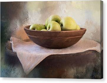 Canvas Print featuring the photograph Apples by Robin-Lee Vieira