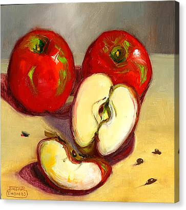 Canvas Print featuring the painting Apples by Susan Thomas