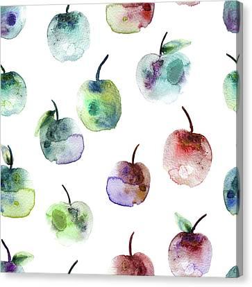 Apples Canvas Print by Varpu Kronholm
