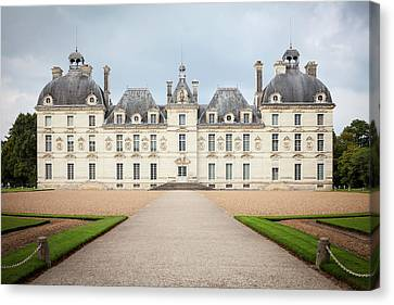 Approach To Chateau De Cheverny  Canvas Print by Peter Handy