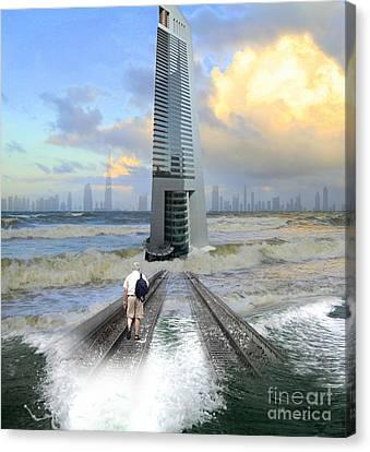 Approach To Dubai Canvas Print by Ayesha DeLorenzo