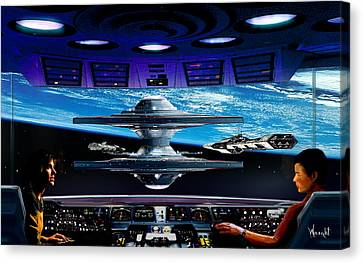 Approach To Star City Canvas Print by Bill Wright