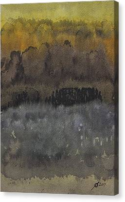 Approach To The Ruins Original Painting Canvas Print