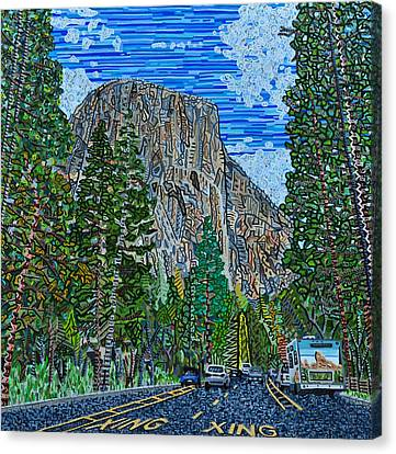 Approaching El Capitan Yosemite National Park Canvas Print