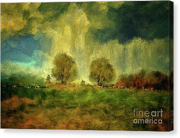 Canvas Print featuring the digital art Approaching Storm At Antietam by Lois Bryan