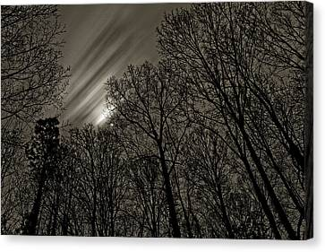 Approaching Storm, Black And White Canvas Print
