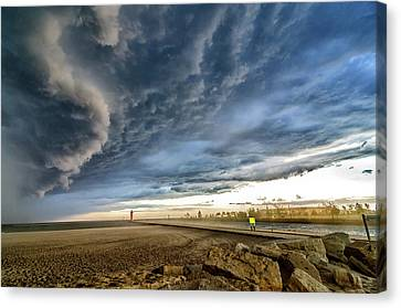 Approaching Storm Canvas Print by Steven Santamour