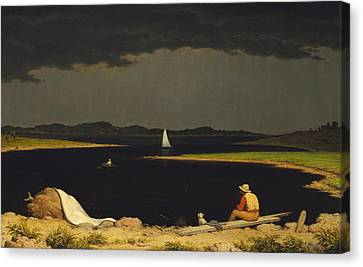 Approaching Thunderstorm Canvas Print by Martin Heade