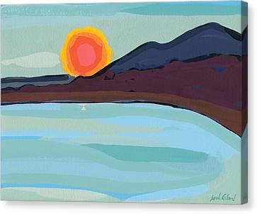 Apricot Sun Canvas Print