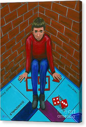Canvas Print featuring the painting April 15th The Pawn by Gail Finn