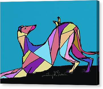 Greyhound Colors Canvas Print by Terry Chacon