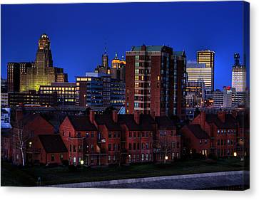 April Nighttime Canvas Print