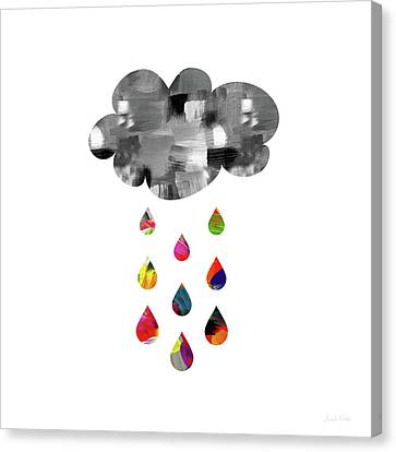Canvas Print featuring the mixed media April Showers- Art By Linda Woods by Linda Woods