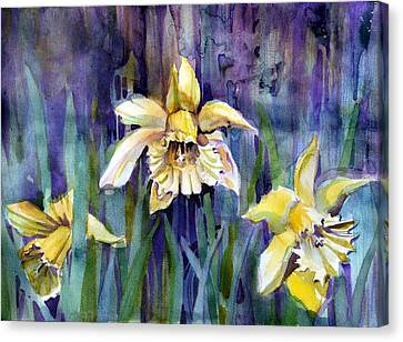 April Showers Canvas Print by Mindy Newman