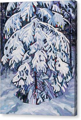 April Snow Canvas Print