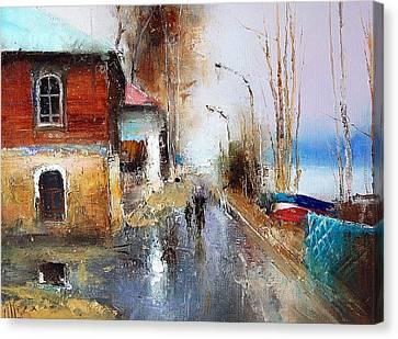 April. The River Volga Canvas Print