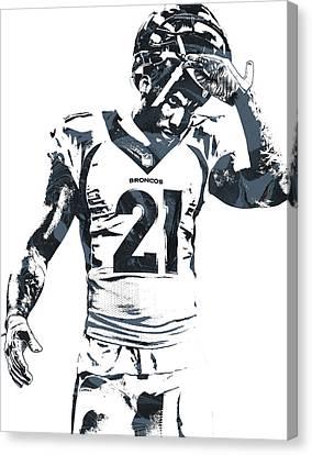 Aqib Talib Denver Broncos Pixel Art Canvas Print