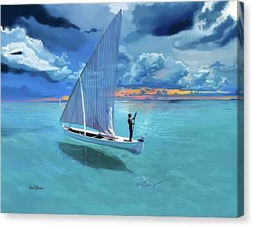 Aqua Blue And Ulua Canvas Print