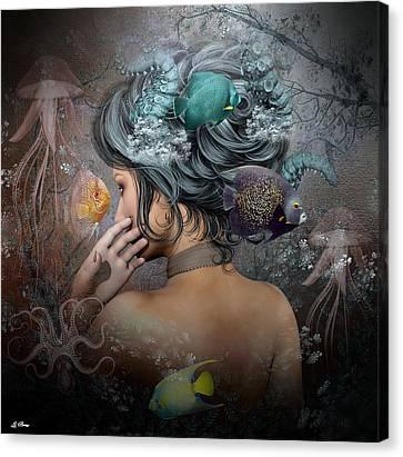 Aqua Girl 001 Canvas Print