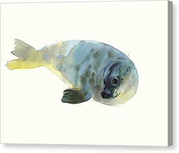 Aqua Green Canvas Print by Mark Adlington