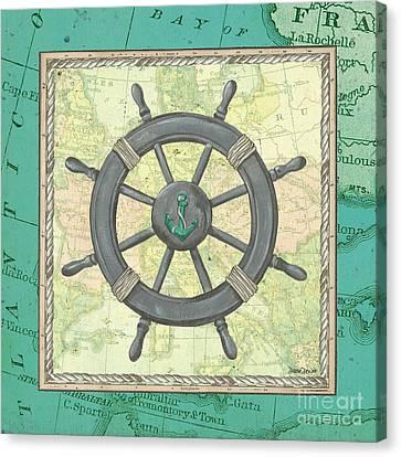 North East Canvas Print - Aqua Maritime by Debbie DeWitt