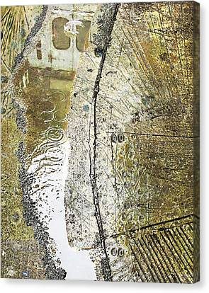 Aqua Metallic Series Truck Canvas Print by Tony Rubino