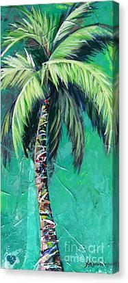Aqua Palm Canvas Print